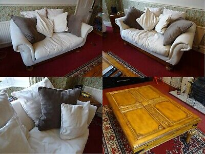 Klausner 2 Piece Suite. 3 Seater Sofa + 2 Seater Sofa + 13 Cushions & Free Table