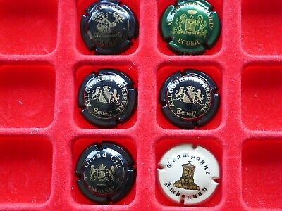 lot de plaques de muselet champagne / Alexandre, Allouchery & Ambonnay