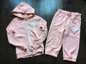 FOR SALE: Girls Beaver Canoe Capris and Hoodie Sz LG 10 12