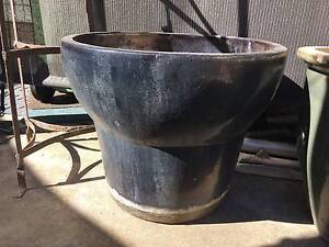 large dark grey glazed ceramic pot 55cmtall 55cm opening diameter Albany Creek Brisbane North East Preview