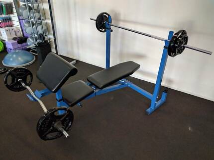 New Bench Press, Bars and Weights