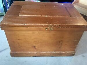 Antique wood chest/trunk