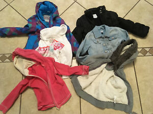 Girls jackets and hoodies size 4