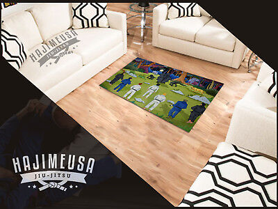 BJJ Area Rug Jiu-Jitsu MMA Great Gift for Dad or Martial Art Fighter