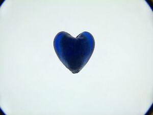 Royal-Blue-silver-foil-glass-heart-beads-20mm-X-5