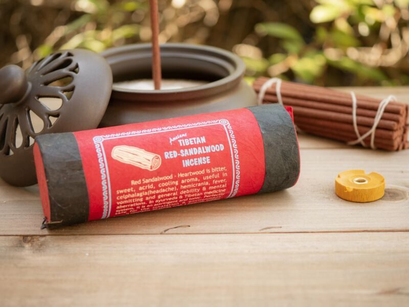 Ancient Tibetan Red Sandalwood Incense Sticks