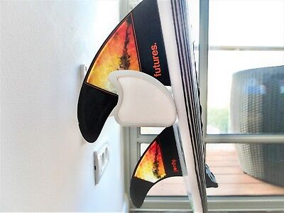 FREE U.S. SHIPPING White Wall Rack for Surfboards With Led Light Vertical Rack