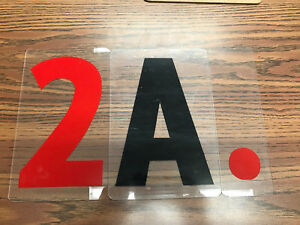 Sign lettering- plastic