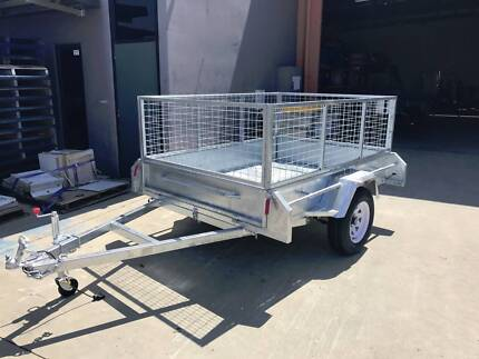 7x5 Box Trailer Heavy Duty with Cage and Tilt Special Bundle