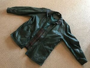 """Moosehead"" leather coat"