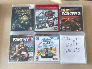 PlayStation 3 games bioshock2 skate3 farcry2&3 call of duty