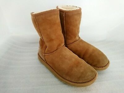 UGG 5825 Classic Short Tan Suede Leather Sheepskin Boots Size UK 4.5 - 4 EU 37 for sale  Shipping to Ireland