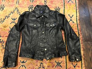 Vintage Leather Trucker Jacket awesome!!