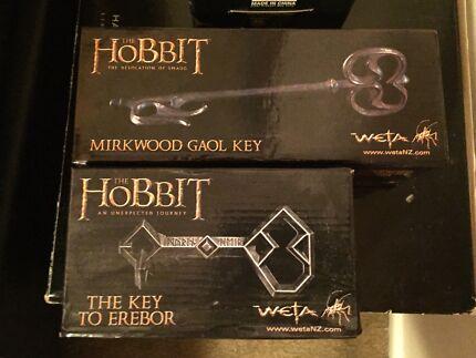 The Hobbit Replica Props, Key of Erebor & Mirkwood Gaol Key.