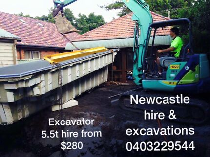 HIRE ME $280 day 5.5t Excavator also tippers bobcat mini loaders etc Thornton Maitland Area Preview