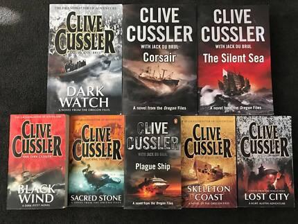 Clive Cussler Novels x 8