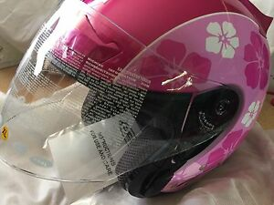 Ladies...Zeus Motorcycle Helmet Open Face with flip visor. NEW Katoomba Blue Mountains Preview