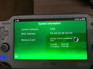Ps vita system software v 3.60 with installed titles - mod ver!