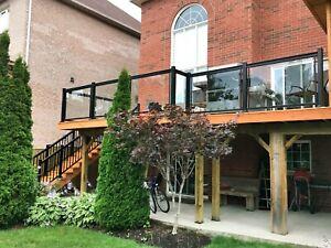 Aluminum Glass Railings • homestars verified • Columns • Gate