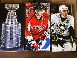 Picture frame canvas Sidney Crosby,  Ovechkin and Stanley cup