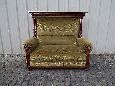 seltenes Gründerzeit Sofa - Nussbaum - mit Gästebett - 1880