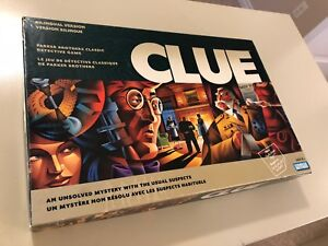 Never used Clue Game everything still in packages