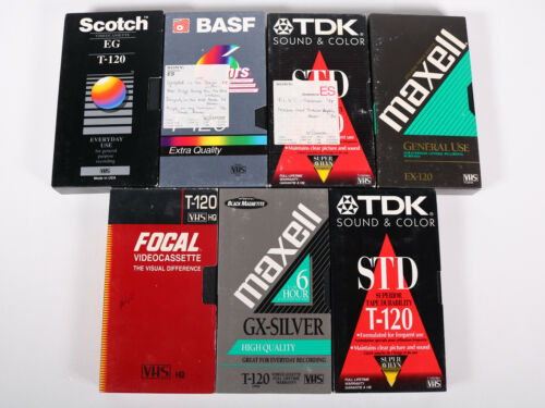 Blank VHS Tapes Home Recordings VCR Tape Vintage See Photos Lot of 7