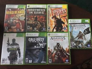 7 Jeux Xbox360»call of duty» assassins'creed»