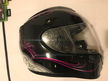 Shoei Helmet Motorbike XR1100 QWest XSmall Black Pink Full Face