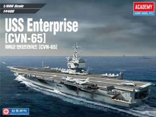 Academy 1/600 Scale USS Enterprise CVN-65 Navy Hobby Plastic model kit #14400