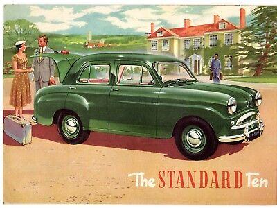 Standard Ten Saloon 1954-55 UK Market Foldout Sales Brochure