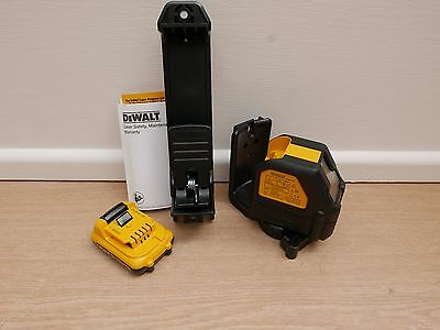 DEWALT DCE088 10.8V XR GREEN CROSS LINE LASER BARE UNIT + BRACKET & DCB127 2 AH
