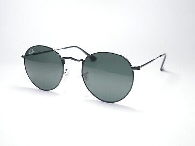 Ray-Ban Round Metal Black Sunglasses RB3447 002/62 50mm Brand New