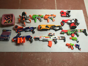 Assortment of nerf guns
