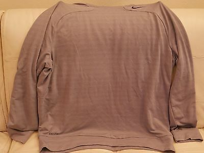 NEW WT NIKE ACTIVE PRO COMBAT TRAINING GRAY LONG SLEEVE SHIRT TOP 645072 065 XL  Active Long Sleeve Training Top