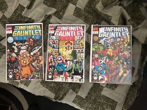 Marvel The Infinity Gauntlet Comics  1, 2 and 3