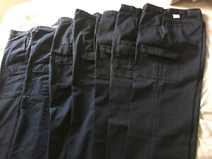 7 pairs of men's cargo style work pants, 3 New