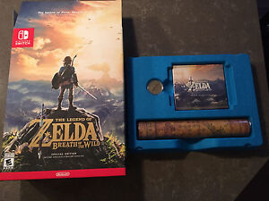 Zelda breath of the wild Switch map, pièce et cd