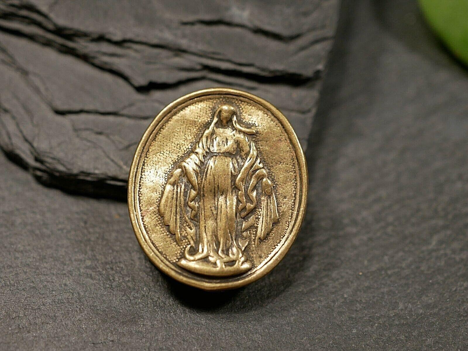 Anhänger Für Bastler Antiker Teil Eines Medaillons Glaube Goldfarben Maria