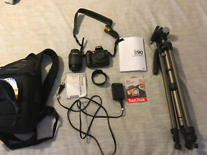Nikon D90 Digital SLR camera kit bundle. Lots of extras!