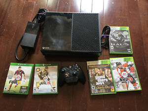 Xbox one console plus some games