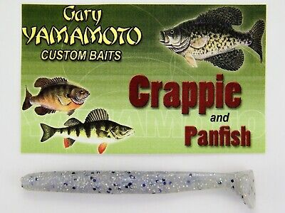 """GARY YAMAMOTO 4/"""" DOUBLE Curly Tail Bass Walleye Northern SMOKE PEARL BLUE"""