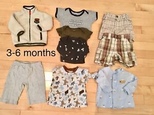 Boys 3 months Jacket, pants, diaper shirts, shorts and sleepers