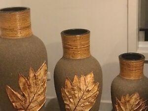 Set of 3 Decorative Elegant Vases