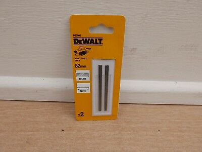PAIR OF DEWALT DT3906 82MM TCT DW678 D26500 DCP580 ETC PLANER BLADES