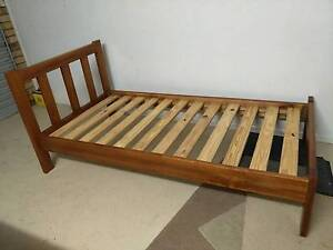 Strong timber single bed frame with slats Shailer Park Logan Area Preview