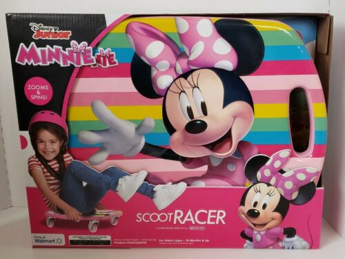 Scoot Racer DISNEY JR MINNIE MOUSE Scooter Board with Casters for Kids