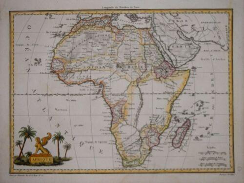 AFRICA - AFRIQUE BY MALTE-BRUN, PARIS CIRCA 1812.