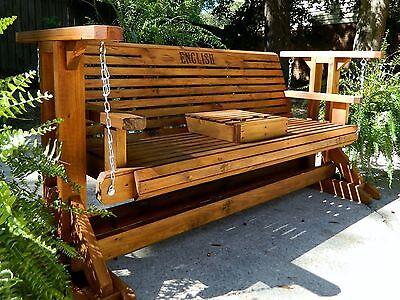 5ft Handmade Southern Style Wood Porch Glider,Patio Glider,Glider,Bench  Swing