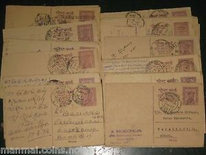 100-Pcs-LOT-POST-CARD-15-Paise-Mixed-cancellation-India